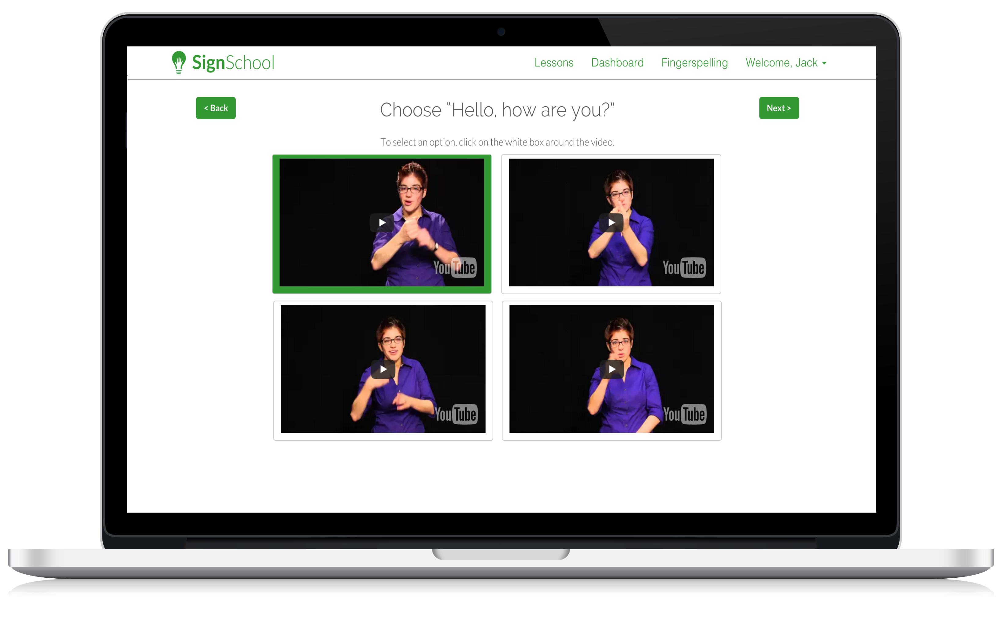 The SignSchool Interactive Exercises - Learn American Sign Language the right way